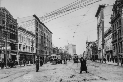 Manitoba Archives. Winnipeg Streets – Main c.1910 north from Portage.